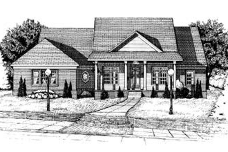 Country Exterior - Front Elevation Plan #20-683 - Houseplans.com