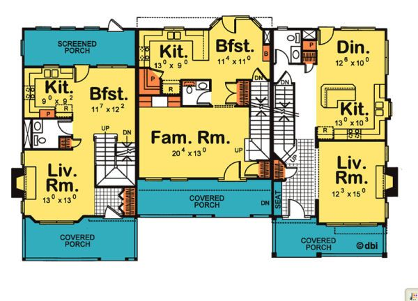 Traditional Floor Plan - Main Floor Plan Plan #20-402