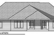 European Style House Plan - 2 Beds 2.5 Baths 2434 Sq/Ft Plan #70-875 Exterior - Rear Elevation