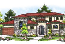 European Exterior - Front Elevation Plan #70-717