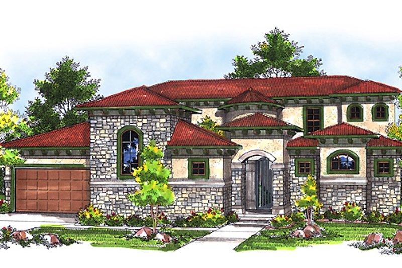 Architectural House Design - European Exterior - Front Elevation Plan #70-717