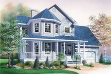 Dream House Plan - Country Exterior - Front Elevation Plan #23-274