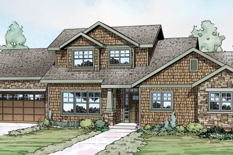 Craftsman Exterior - Front Elevation Plan #124-881