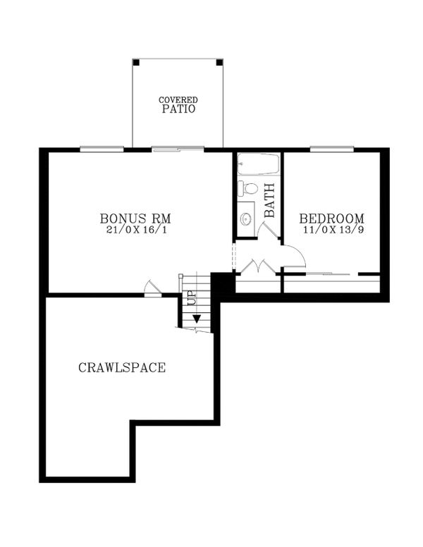 Craftsman Floor Plan - Lower Floor Plan Plan #53-471