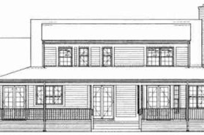 Country Exterior - Rear Elevation Plan #72-320 - Houseplans.com