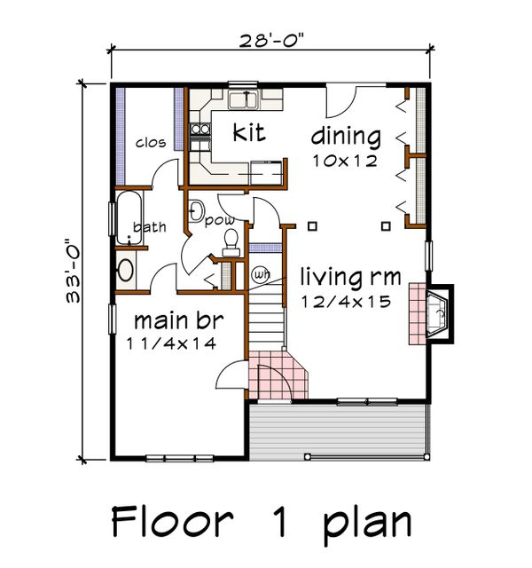 Dream House Plan - Country Floor Plan - Main Floor Plan #79-284