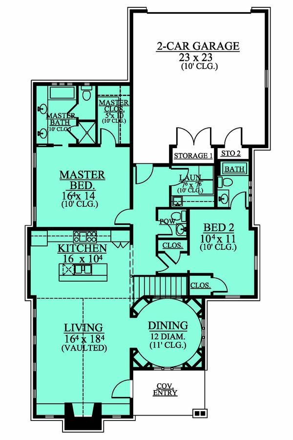 European Floor Plan - Main Floor Plan Plan #430-132