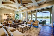 Mediterranean Style House Plan - 3 Beds 3 Baths 2779 Sq/Ft Plan #930-480 Interior - Family Room