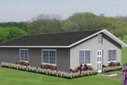 Ranch Style House Plan - 3 Beds 2 Baths 1040 Sq/Ft Plan #1-148 Exterior - Front Elevation