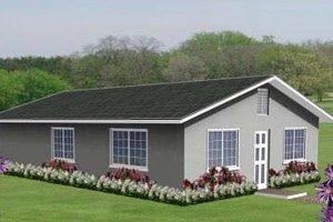 Ranch Exterior - Front Elevation Plan #1-148