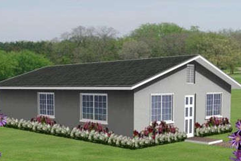 Ranch Style House Plan - 3 Beds 2 Baths 1040 Sq/Ft Plan #1-148