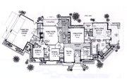 European Style House Plan - 3 Beds 3 Baths 3239 Sq/Ft Plan #310-931 Floor Plan - Main Floor Plan