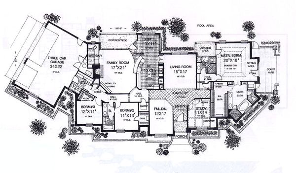 European Floor Plan - Main Floor Plan Plan #310-931