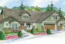 Dream House Plan - Craftsman Exterior - Front Elevation Plan #124-760
