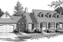 Home Plan Design - Traditional Exterior - Front Elevation Plan #14-155