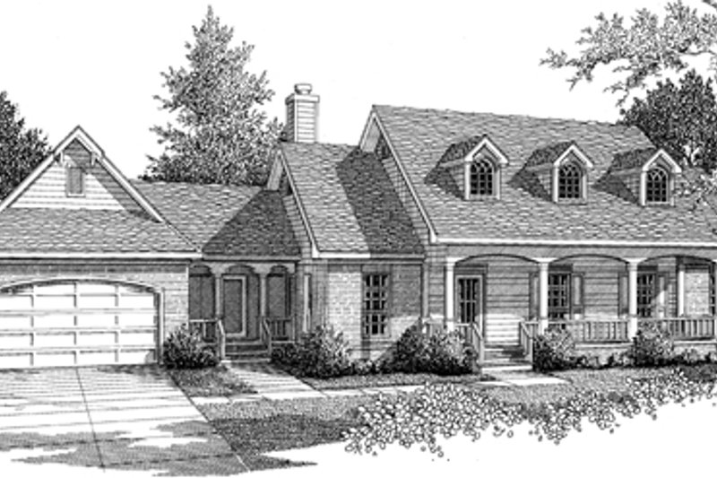 Traditional Exterior - Front Elevation Plan #14-155 - Houseplans.com