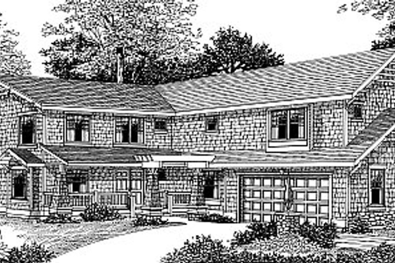 Craftsman Exterior - Front Elevation Plan #100-203