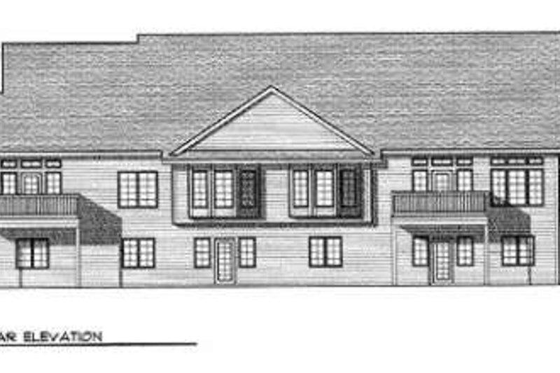 Traditional Exterior - Rear Elevation Plan #70-738 - Houseplans.com