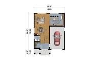 Contemporary Style House Plan - 3 Beds 2.5 Baths 1604 Sq/Ft Plan #25-4874 Floor Plan - Main Floor