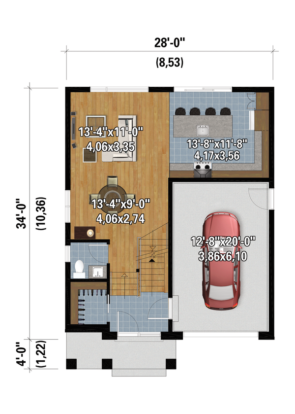 Dream House Plan - Contemporary Floor Plan - Main Floor Plan #25-4874
