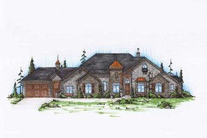 Colonial Exterior - Front Elevation Plan #5-320