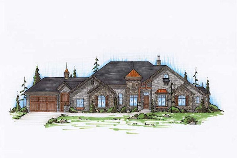 House Plan Design - Colonial Exterior - Front Elevation Plan #5-320