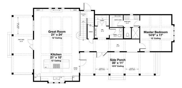 Beach Floor Plan - Main Floor Plan Plan #443-14