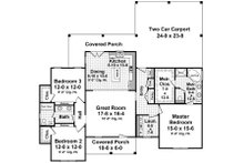 Country Floor Plan - Main Floor Plan Plan #21-340