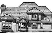 European Style House Plan - 4 Beds 2.5 Baths 2708 Sq/Ft Plan #20-205 Exterior - Rear Elevation