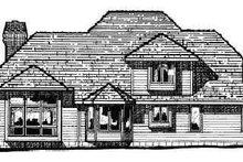 House Plan Design - European Exterior - Rear Elevation Plan #20-205
