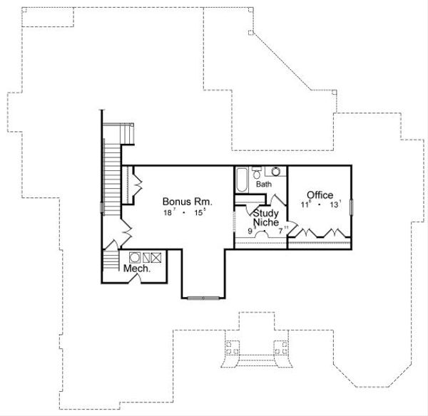 Traditional Floor Plan - Upper Floor Plan Plan #417-358