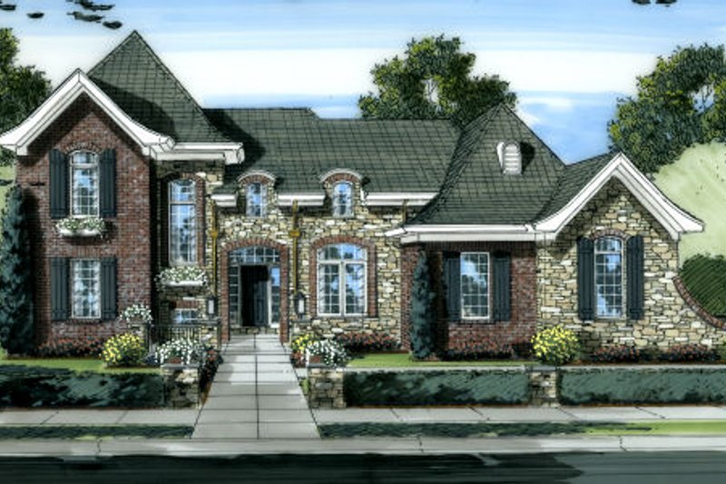 House Plan Design - European Exterior - Front Elevation Plan #46-453