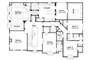 European Style House Plan - 4 Beds 3.5 Baths 5502 Sq/Ft Plan #411-656 Floor Plan - Upper Floor Plan