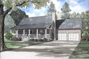 Country Exterior - Front Elevation Plan #17-523