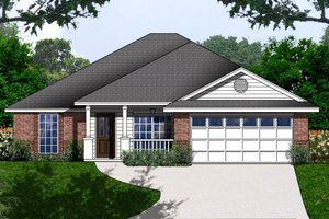 Country Exterior - Front Elevation Plan #62-150