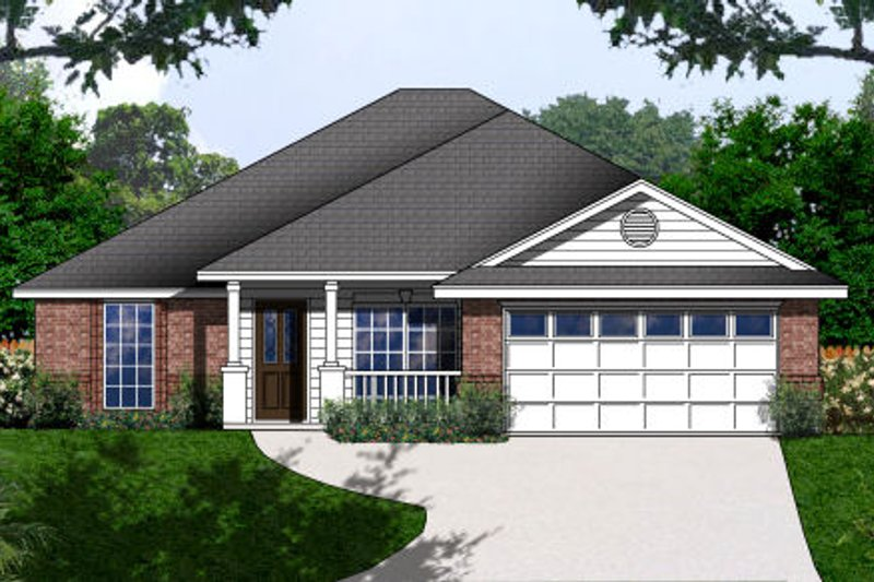 Country Style House Plan - 3 Beds 2 Baths 1468 Sq/Ft Plan #62-150
