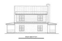 Cabin Exterior - Rear Elevation Plan #140-121