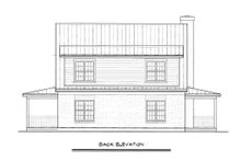 Cabin Exterior - Rear Elevation Plan #140-121