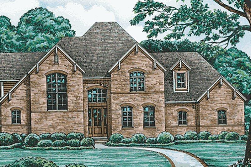 Architectural House Design - European Exterior - Front Elevation Plan #20-783