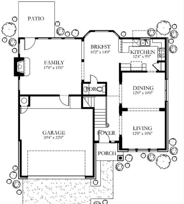 Traditional Floor Plan - Main Floor Plan #80-147