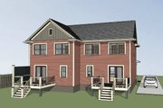 Southern Style House Plan - 2 Beds 2 Baths 2174 Sq/Ft Plan #79-240 Exterior - Rear Elevation