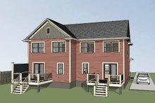 Southern Exterior - Rear Elevation Plan #79-240