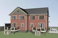 House Plan Design - Southern Exterior - Rear Elevation Plan #79-240