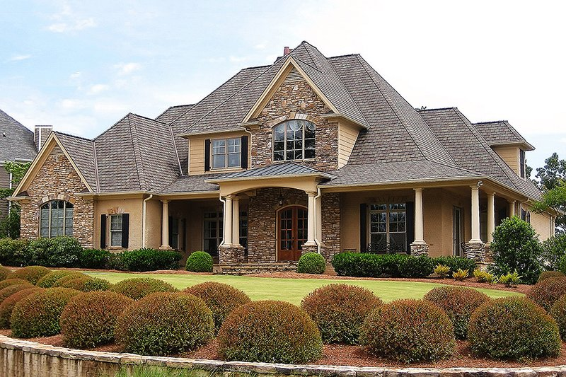 Traditional Exterior - Front Elevation Plan #437-56 - Houseplans.com
