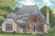 European Style House Plan - 3 Beds 4 Baths 3359 Sq/Ft Plan #453-56 Exterior - Rear Elevation