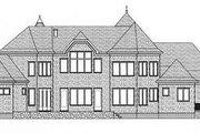 European Style House Plan - 4 Beds 4 Baths 4468 Sq/Ft Plan #413-120 Exterior - Rear Elevation