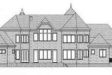 Architectural House Design - European Exterior - Rear Elevation Plan #413-120