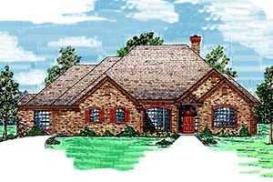 Architectural House Design - Traditional Exterior - Front Elevation Plan #52-111