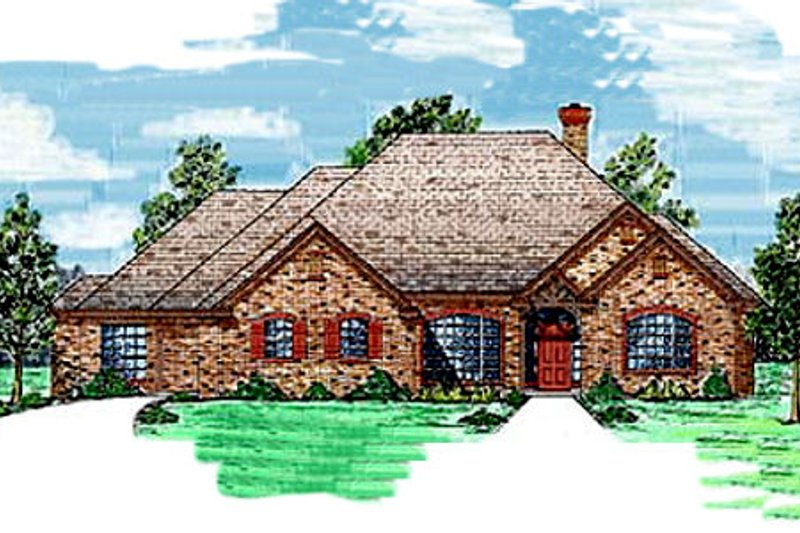 Traditional Style House Plan - 3 Beds 2.5 Baths 2581 Sq/Ft Plan #52-111