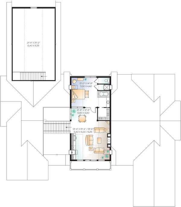 Architectural House Design - Upper Level - 9000 square foot Beach home